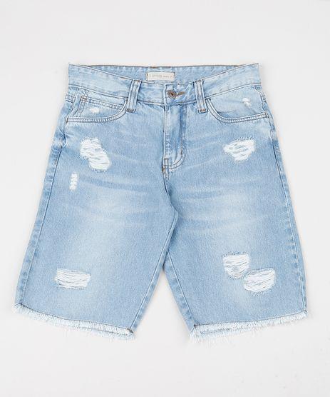 Bermuda-Jeans-Juvenil-Reta-Destroyed-com-Bolsos-Azul-Medio-9944399-Azul_Medio_1