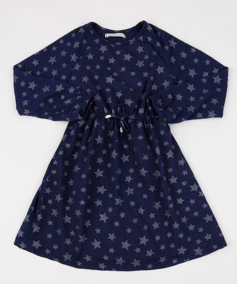 Vestido-Infantil-Estampado-de-Estrelas-Manga-Longa-Azul-Marinho-9944537-Azul_Marinho_1