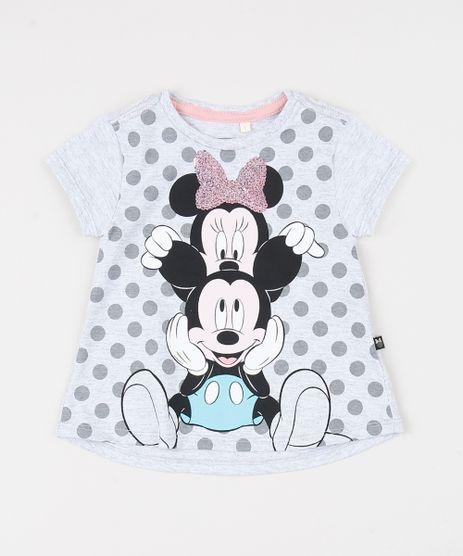 Blusa-Infantil-Minnie-e-Mickey-Manga-Curta-Cinza-Mescla-Claro-9942057-Cinza_Mescla_Claro_1