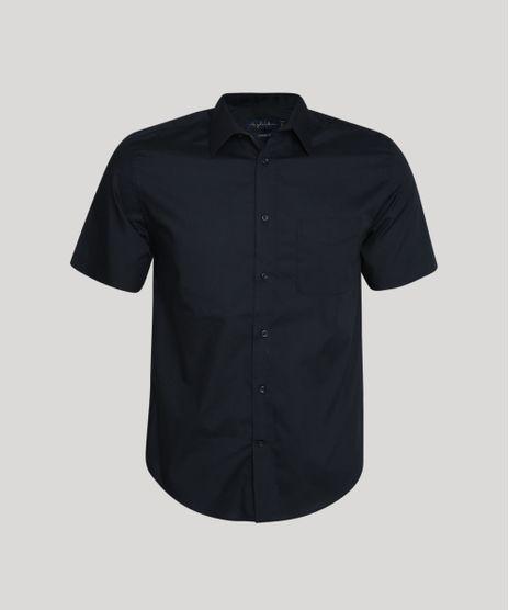 Camisa-Masculina-Comfort-com-Bolso-Manga-Curta-Preto-7602490-Preto_1