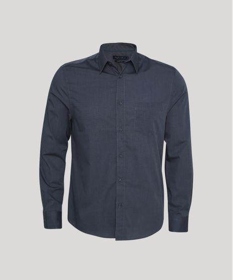 Camisa-Masculina-Comfort-com-Bolso-Manga-Longa-Chumbo-8826559-Chumbo_1