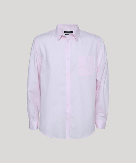 Camisa-Masculina-Comfort-Fit-com-Bolso-Manga-Longa-Rosa-7591834-Rosa_1