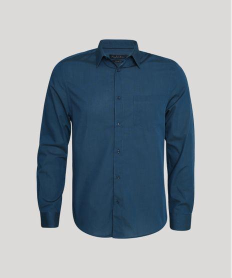 Camisa-Masculina-Comfort-com-Bolso-Manga-Longa-Petroleo-8826559-Petroleo_1