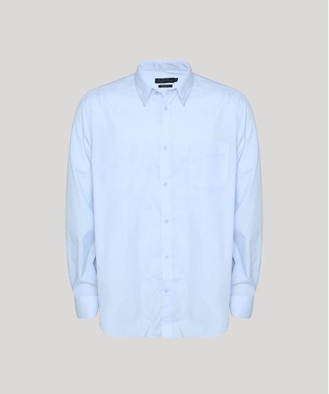 Camisa-Masculina-Comfort-Fit-com-Bolso-Manga-Longa-Azul-Claro-7591834-Azul_Claro_1