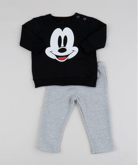 Conjunto-Infantil-Mickey-de-Blusao-Preto---Calca-em-Moletom-Cinza-Mescla-9948037-Cinza_Mescla_1