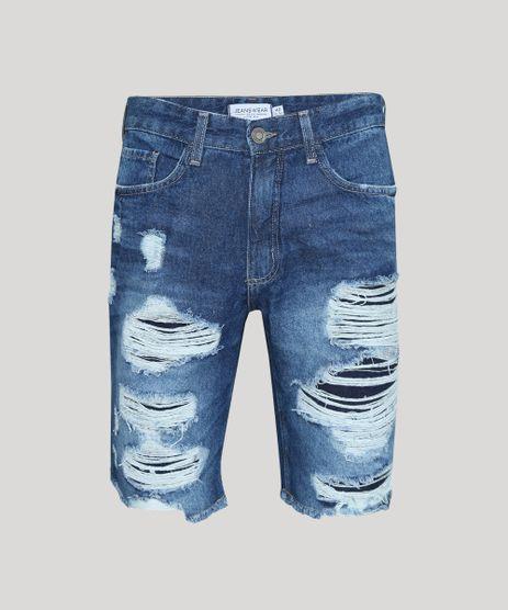 Bermuda-Jeans-Masculina-Slim-Destroyed-Azul-Medio-9952917-Azul_Medio_1