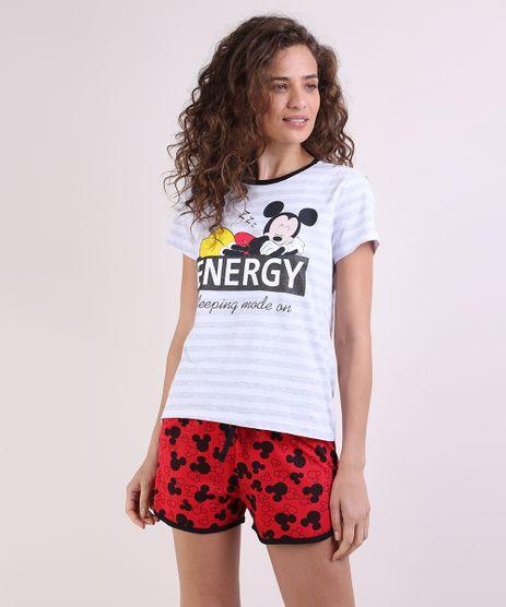 Pijama-Feminino-Mickey-Manga-Curta-Cinza-Mescla-9949295-Cinza_Mescla_1