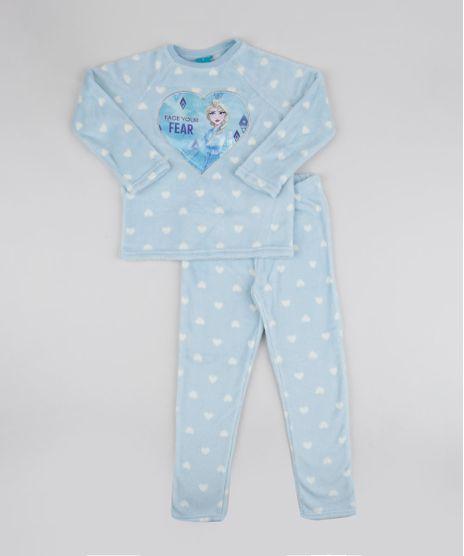 Pijama-de-Fleece-Infantil-Frozen-Estampado-Manga-Longa-Azul-Claro-9769041-Azul_Claro_1