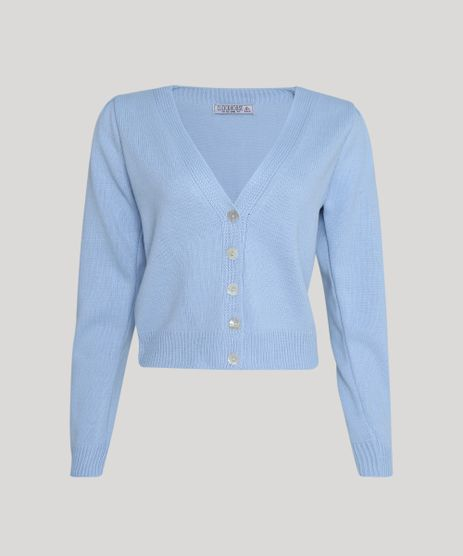 Cardigan-de-Trico-Feminino-Basico-com-Botoes-Azul-Claro-9945792-Azul_Claro_1