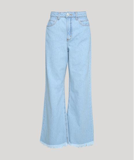 Calca-Jeans-Feminina-Pantalona-Cintura-Super-Alta-Azul-Claro-9954889-Azul_Claro_1