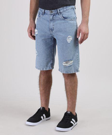 Bermuda-Jeans-Juvenil-com-Rasgos-Azul-Claro-Bermuda-Jeans-Juvenil-com-Rasgos-Azul-Claro_1