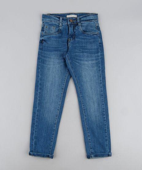 Calca-Jeans-Infantil-Slim-com-Bolsos-Azul-Medio-Calca-Jeans-Infantil-Slim-com-Bolsos-Azul-Medio_1