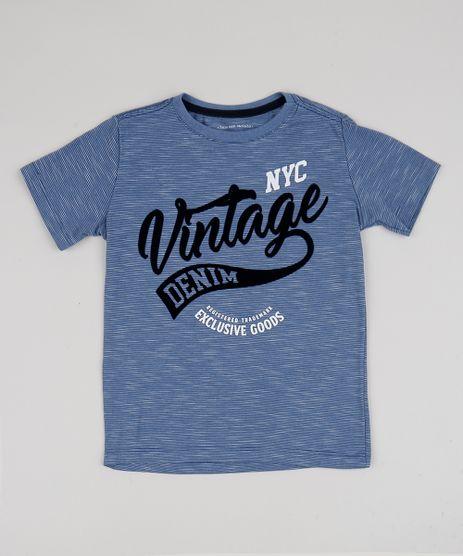 Camiseta-Infantil-Manga-Curta-Azul-Camiseta-Infantil-Manga-Curta-Azul_1