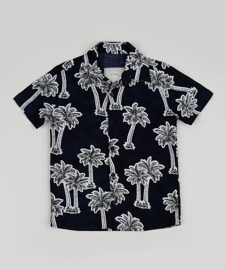 Camiseta-Infantil-Estampada-de-Coqueiros-Manga-Curta-Preta-Camiseta-Infantil-Estampada-de-Coqueiros-Manga-Curta-Preta_1