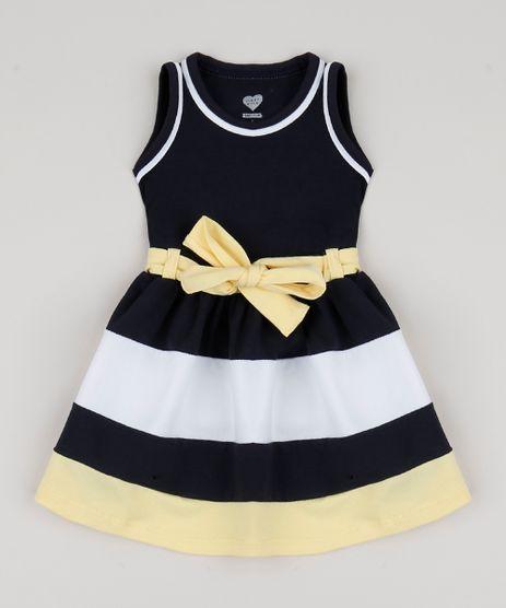 Vestido-Infantil-com-Recortes-e-Laco-Sem-Manga-Azul-Marinho-9943381-Azul_Marinho_1