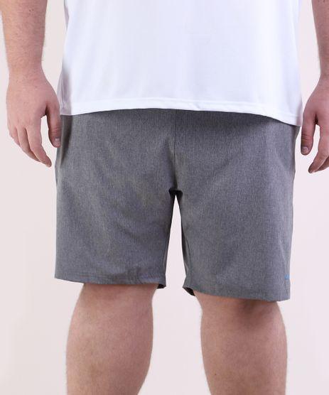 Bermuda-Masculina-Plus-Size-Esportiva-Ace-com-Bolsos-Cinza-Mescla-Escuro-9951802-Cinza_Mescla_Escuro_1