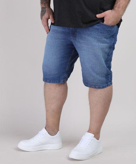 Bermuda-Jeans-Masculina-Plus-Size-Slim-com-Bolsos-Azul-Medio-9951311-Azul_Medio_1