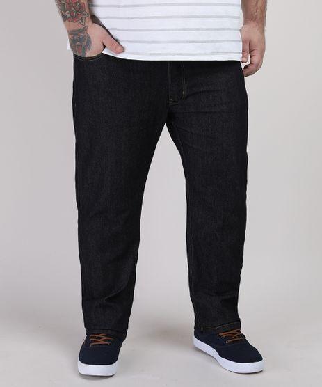 Calca-Jeans-Masculina-Plus-Size-Reta-com-Bolsos-Preta-9951380-Preto_1