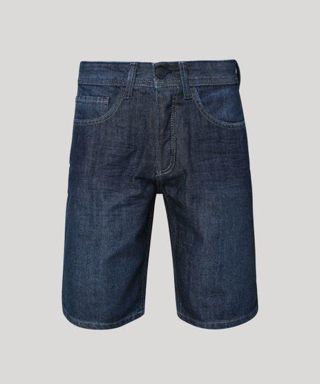 Bermuda-Jeans-Masculina-Slim-com-Bolsos-Azul-Escuro-9953160-Azul_Escuro_1