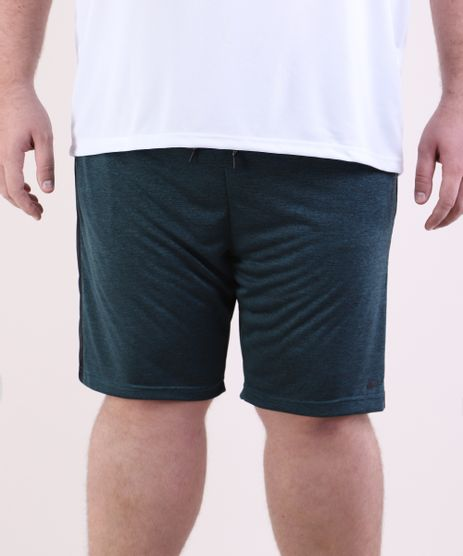 Bermuda-Masculina-Plus-Size-Esportiva-Ace-com-Faixa-Lateral-Verde-Escuro-9953817-Verde_Escuro_1