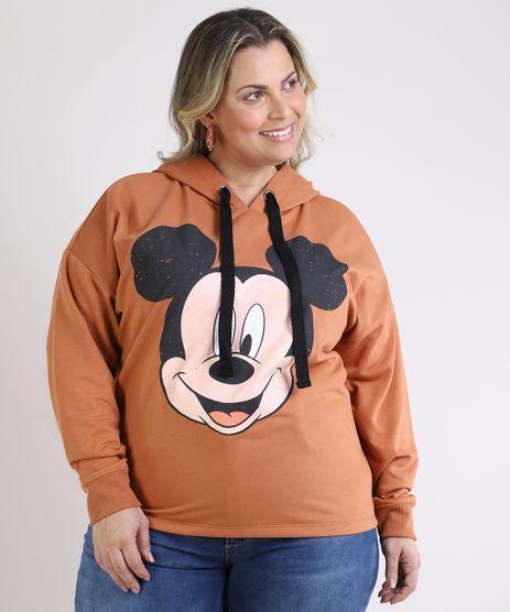 Blusao-de-Moletom-Feminino-Plus-Size-Mickey-com-Capuz-Caramelo-9953284-Caramelo_1
