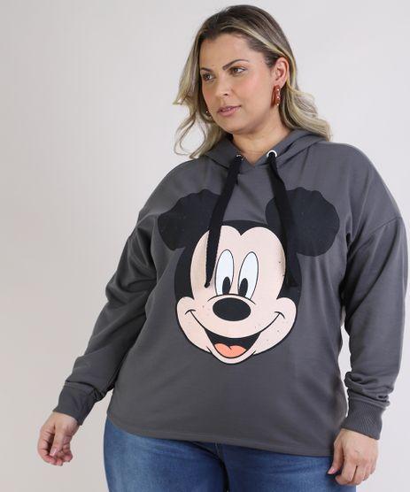 Blusao-de-Moletom-Feminino-Plus-Size-Mickey-com-Capuz-Chumbo-9953284-Chumbo_1