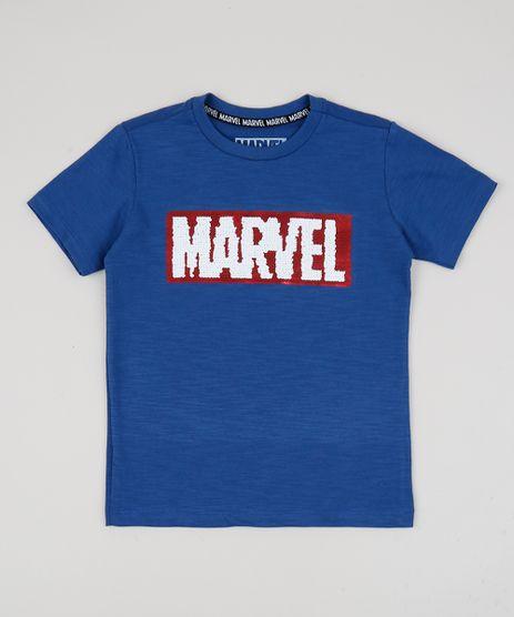 Camiseta-Infantil-Marvel-com-Paete-Dupla-Face-Manga-Curta-Azul-9943202-Azul_1