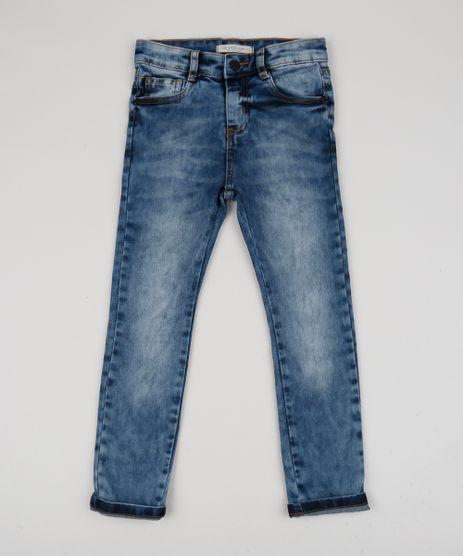 Calca-Jeans-Infantil-Slim-com-Bolsos-Azul-Medio-9947440-Azul_Medio_1