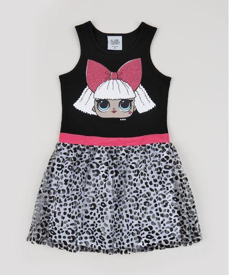 Vestido-Infantil-Lol-Surprise-Sem-Manga-Estampado-Animal-Print-de-Onca-Preto-9943457-Preto_1