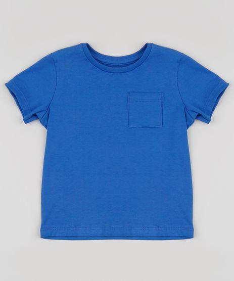 Camiseta-Infantil-Basica-com-Bolso-Manga-Curta-Azul-8574313-Azul_1