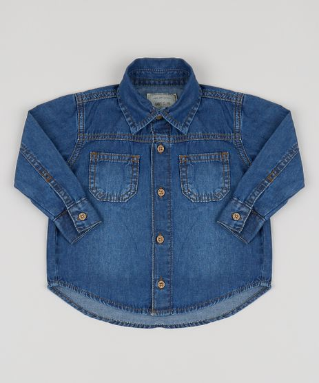 Camisa-Jeans-Infantil-com-Bolsos-Azul-Medio-9945115-Azul_Medio_1