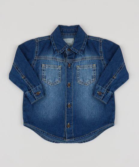 Camisa-Jeans-Infantil-com-Bolsos-Azul-Claro-9949641-Azul_Claro_1