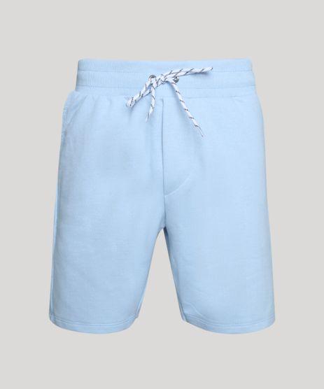 Bermuda-de-Moletom-Masculina-com-Cadarco-Para-Amarrar-Azul-Claro-9954911-Azul_Claro_1