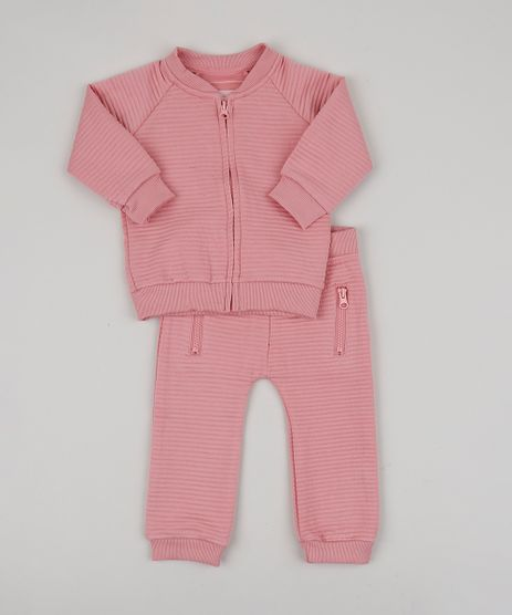 Conjunto-Infantil-de-Blusao-em-Moletom-Canelado---Calca-Rosa-9200191-Rosa_1