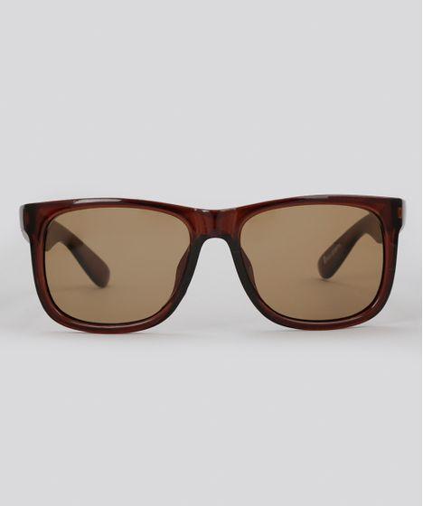 6cfae8458809d Oculos-de-Sol-Quadrado-Masculino-Oneself-Marrom-8755174-