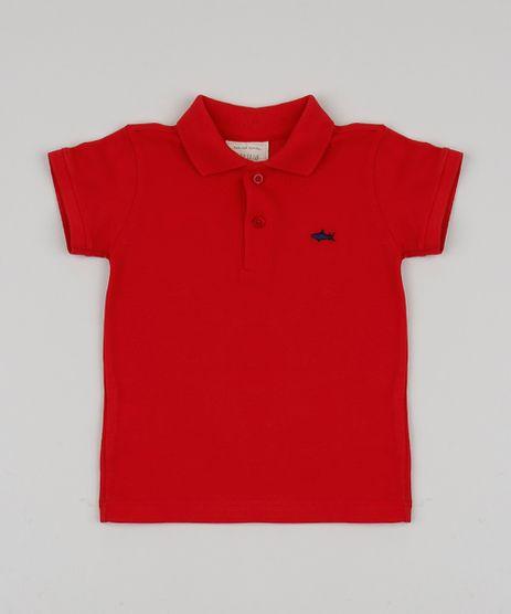 Polo-Infantil-Basica-em-Piquet-Manga-Curta-com-Bordado-Vermelha-8527029-Vermelho_1