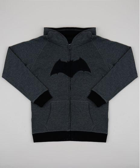Blusao-Infantil-Batman-com-Capuz-em-Moletom-Cinza-Mescla-Escuro-9338075-Cinza_Mescla_Escuro_1