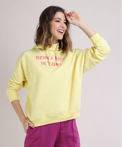 Blusao-de-Moletom-Feminino-Being-Nice-is-Cool-Com-Capuz-Amarelo-9952527-Amarelo_1