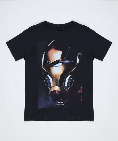 Camiseta-Juvenil-Homem-de-Ferro-Manga-Curta-Preta-9942994-Preto_1