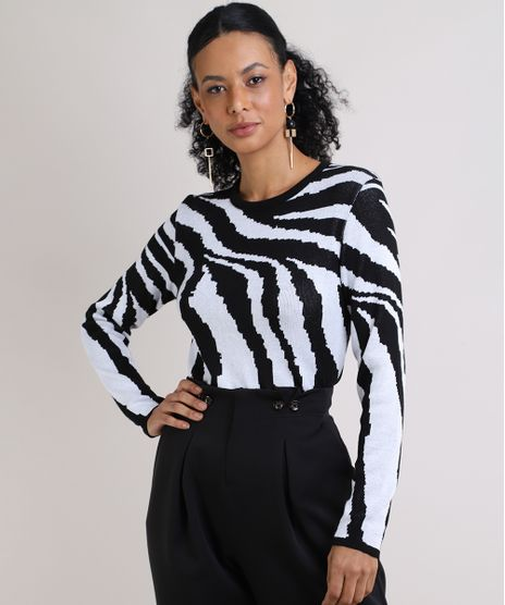 Sueter-Feminino-Estampa-Zebra-Decote-Redondo-Off-White-9946663-Off_White_1