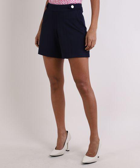 Short-Feminino-Basico-Cintura-Alta-com-Botoes-e-Bolsos-Azul-Marinho-9953176-Azul_Marinho_1