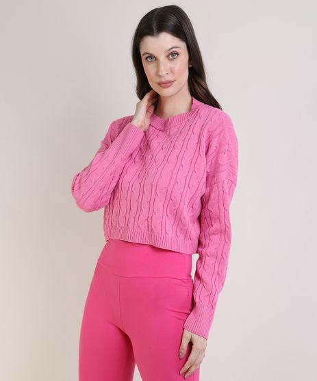 Sueter-Feminino-em-Trico-Cropped-Oversized--Rosa-9955004-Rosa_1