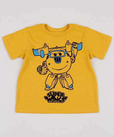 Camiseta-Infantil-Super-Wings-Donnie-Manga-Curta-Mostarda-9957527-Mostarda_1