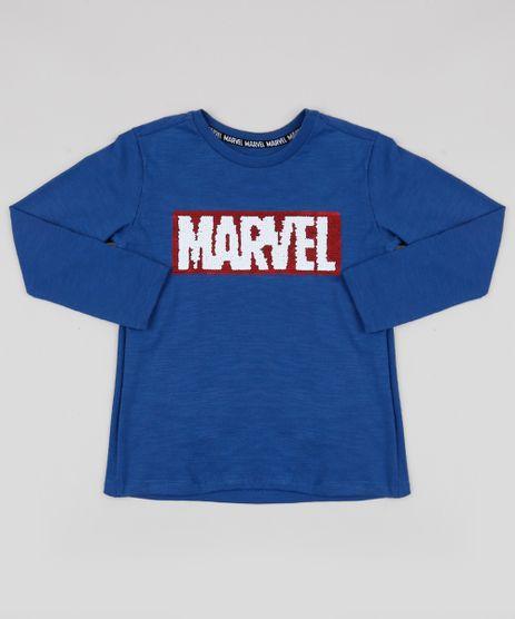 Camiseta-Infantil-Marvel-com-Paetes-Dupla-Face-Manga-Longa-Azul-9943201-Azul_1