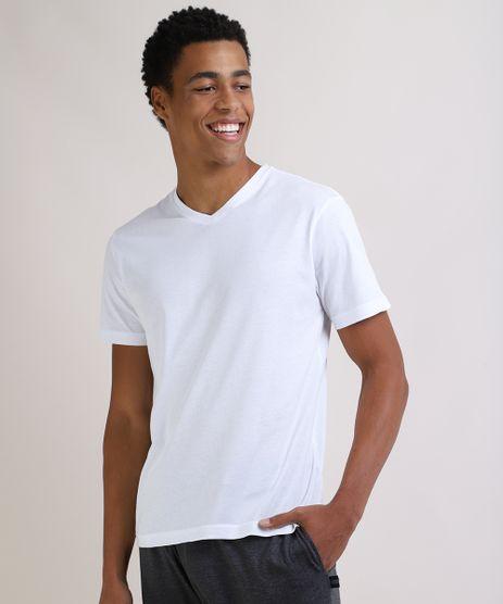 Camiseta-Masculina-Basica-Manga-Curta-Gola-V-Branca-9597169-Branco_1