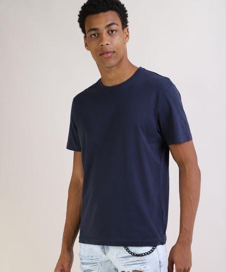 Camiseta-Masculina-Basica-Manga-Curta-Gola-Careca-Azul-Marinho-9597170-Azul_Marinho_1
