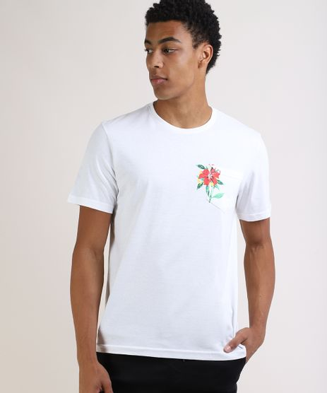 Camiseta-Masculina-Basica-Flor-Manga-Curta-Gola-Careca-Branca-9951042-Branco_1