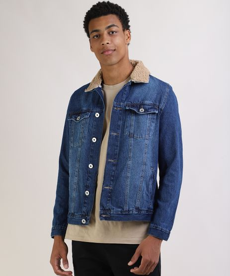 Jaqueta-Jeans-Masculina-Trucker-com-Pelo-Removivel-na-Gola-Azul-Escuro-9956501-Azul_Escuro_1
