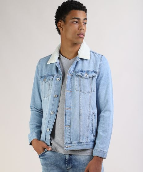 Jaqueta-Jeans-Masculina-Trucker-com-Pelo-Removivel-na-Gola-Azul-Claro-9956502-Azul_Claro_1
