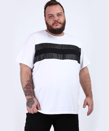 Camiseta-Masculina-Plus-Size-com-Recortes-Manga-Curta-Gola-Careca-Branca-9955112-Branco_1